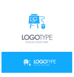 Mouse online board education blue logo vector
