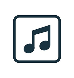 music icon Rounded squares button vector image