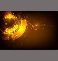 orange technology futuristic abstract background vector image