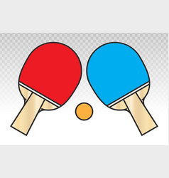 Ping pong table tennis paddle with a pong vector