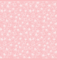 pink small cherry blossom sakura flowers vector image