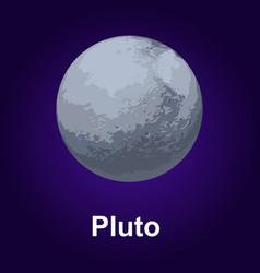 pluton planet icon isometric style vector image