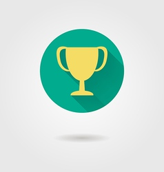 Prize cup flat icon vector