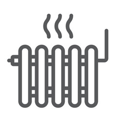 radiator heating line icon real estate and home vector image