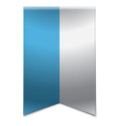 Ribbon banner - flag of san marino vector image