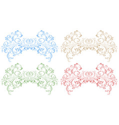 royal floral ornaments colored decorations vector image