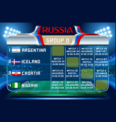 Russia world cup group d wallpaper vector
