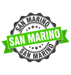 San marino round ribbon seal vector