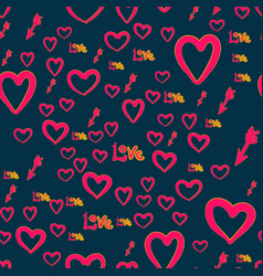 Seamless chaotic pattern with cupid arrows love vector