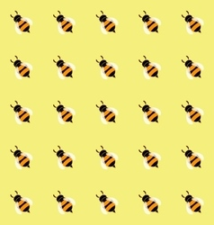 Seamless pattern with cute honey bees vector image