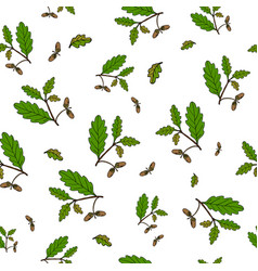 seamless pattern with hand drawn tree vector image