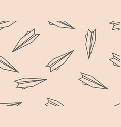 Seamless pattern with simple origami paper planes vector