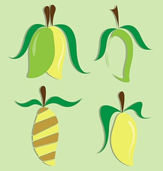 set of mango icon vector image