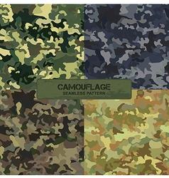Set original camouflage patterns seamless vector