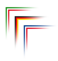 simple corners in the look of italian german vector image