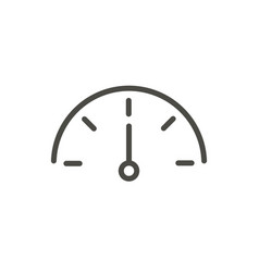 speed icon outline speedometer line power vector image