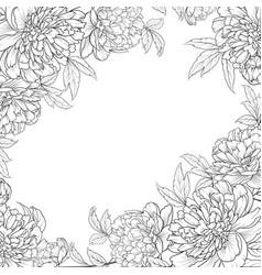 spring flowers bouquet of peonies garland vector image