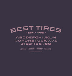 Stock sans serif extended striped font vector