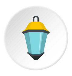 Street light icon circle vector