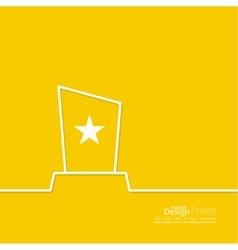 The award star winner vector image