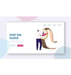 time management and procrastination website vector image