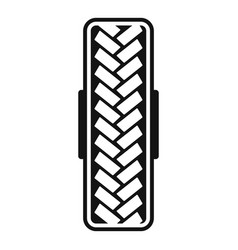 Tread pattern icon simple style vector