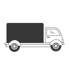 truck delivery shipping isolated vector image