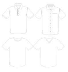 tshirt vector image