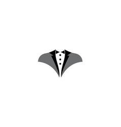 tuxedo logo template vector image