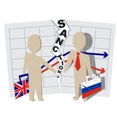 UK sanctions against Russia vector