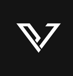 v logo vector image