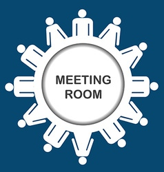 Meeting room icon vector image vector image