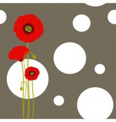 poppy wallpaper vector image vector image