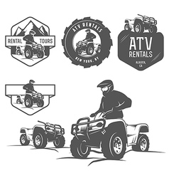 Set of atv labels badges and design elements vector