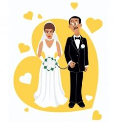 wedding photo vector image