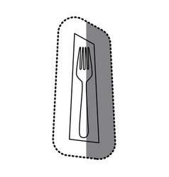 figure fork picture decorative icon vector image vector image