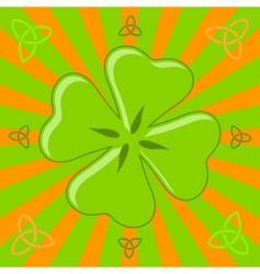 four leaf shamrock vector image