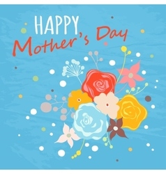 Happy Mothers Day floral greeting card vector image