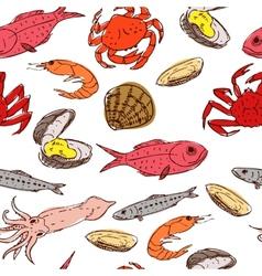 seafood seamless vector image vector image