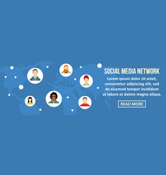 social media network banner horizontal concept vector image vector image