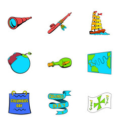 spica icons set cartoon style vector image vector image