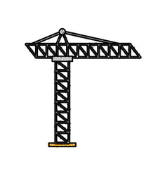 Tower construction site scaffolding project icon vector