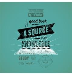 Typography retro bookstore poster design vector image vector image