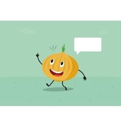 Funny onion have a brilliant idea vector image