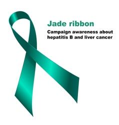 Jade ribbon vector image vector image