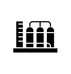 tanks icon black sign on vector image vector image