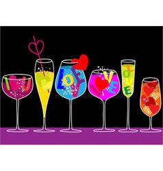 Valentine love drinks vector image vector image
