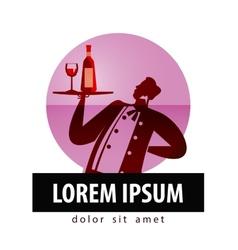 alcohol logo design template bottle of vector image