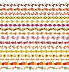 autumn border patterns vector image