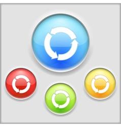 Icon of circular arrows vector image vector image
